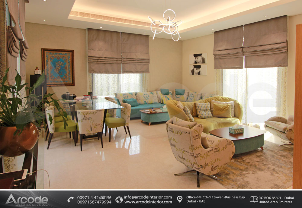 Lovely Colored Living Room